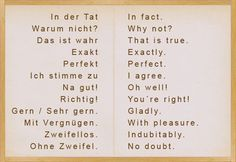 Different ways to say YES and NO in German – German, German, Kommunikation, V … - German Language German Language Learning, Language Study, Language Lessons, Learn A New Language, German Grammar, German Words, Deutsch Language, Study German, Learning Languages Tips