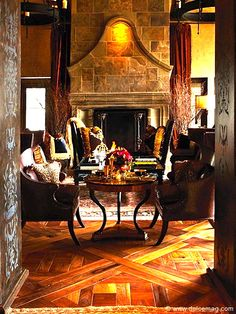 One of Moll Anderson's ideas for creating seductive and sensual rooms.