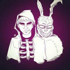 #17 Why do you wear that stupid man suit? #demonic #rabbit #franktherabbit #antihero #donniedarko #movies #creepy #october #endoftheworld #predictions #requests #correct #the #timeline #inktober #halloween #drawlloween #thegreysanctuary #jessaotero
