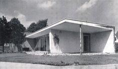 "germanpostwarmodern: ""Bungalow (ca. 1954) near Düsseldorf, Germany, by Paul Schneider-Esleben """