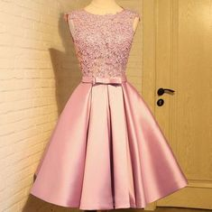 Sleeveless Prom Dresses, Homecoming Dress With Appliques, Short Homecoming Dress, Prom Dresses Pink Homecoming Dress Short Homecoming Dresses Lace Homecoming Dresses, Prom Party Dresses, Occasion Dresses, Evening Dresses, Dress Prom, Graduation Dresses, Prom Gowns, Dresses For Teens, Short Dresses