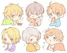 Hetalia - Littles England, Japan, America, France, Prussia, and Spain : Babies !