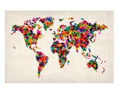 Love Hearts Map of the World Map  Tompsett, Michael 商品番号: 9334057
