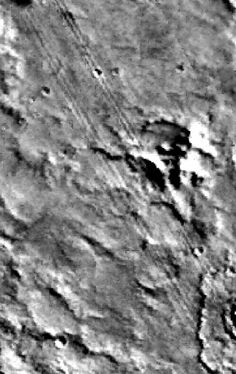 Mysterious 'Tracks' On  The Moon!