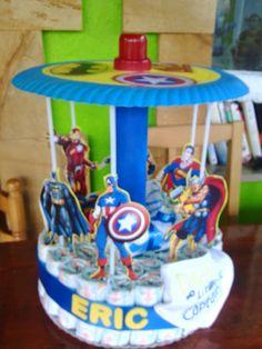 Carrusel superheroes pañales