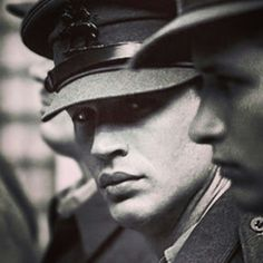 Tom Hardy in uniform.