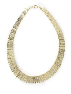 fringe collar necklace by hive & honey