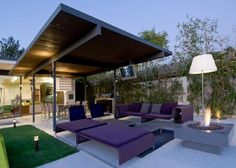 Cool Outdoor Living Furniture at Modern Hopen Place House in the Hollywood Hills by Whipple Russell Architects