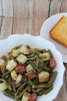 Crock Pot Kielbasa and Green Beans with Potatoes Recipe | Tammilee Tips