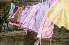 Aprons - yes, they are remembered; but, no, I do not own one.--this reminds me of when my mom did the laundry, our dryer was a clothesline.........