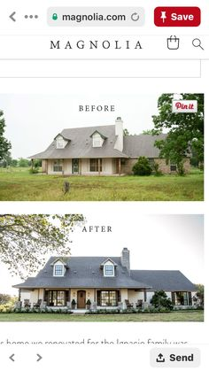 New Farmhouse Remodel Exterior Renovation Ideas - Home & DIY Home Exterior Makeover, Exterior Remodel, Exterior Home Renovations, Exterior Renovation Before And After, House Renovations, Fixer Upper, Farmhouse Remodel, Farmhouse Ideas, Modern Farmhouse