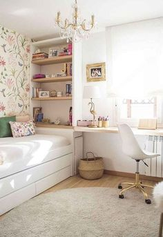 Awesome Teen Girl Bedroom Ideas That Will Blow Your Mind teen bedroom design. Awesome Teen Girl Bedroom Ideas That Will Blow Your Mind teen bedroom designs, girl bedroom ide Study Table Designs, Study Room Design, Small Room Design, Design Ikea, Home Design, Design Girl, Bed Design, Wall Design, Modern Design