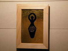 Goddess Frame, - Glass Gilding - Verre Eglomise