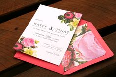 Botanical Rose Wedding Invitation, Rustic Vintage Rose, Shabby Chic, Romantic invite