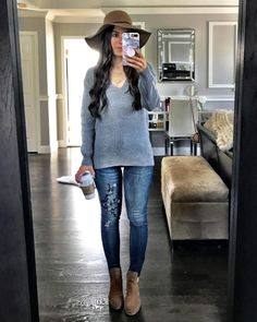 Flat Lays Come to Life No.7. Blue Sweater OutfitFloppy Hat ... 6a1bd6d7f
