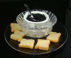 Fake Food Caviar on Ice
