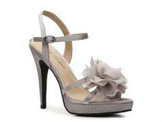 Silver/grey with ruffles (Lulu Townsend Bellow Sandal Bridesmaid Wedding Shop Women's Shoes - DSW)