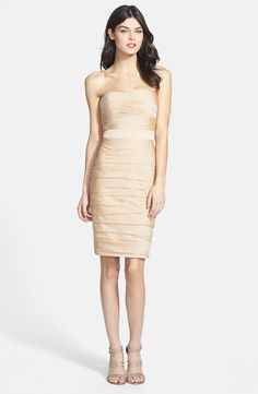 Ruched Strapless Cationic Chiffon Bridesmaid Dress by Monique Lhuillie at Nordstrom