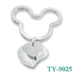 Tiffany and co Mickey Double Hearts Key Ring jewelry