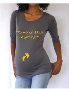 Funny  Gray Maternity Tshirt Coming this by DJammarMaternity, $24.99