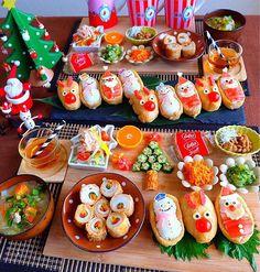 ❁ ayumi ❁さんはInstagramを利用しています:「こんばんは🌙 今夜のおうちごはんです☺❤ ❄️ #おいなりさん ❄️ #竹輪の肉巻き ❄️ #オクラツリー ❄️ #人参たらこ炒め ❄️ #セロリのきんぴら ❄️ しらす納豆 ❄️ #ツナサラダ ❄️ #みかん ❄️ #豚汁 でした(*^ω^*)…」 Miniature Christmas Trees, Christmas Tree Toy, Christmas Crafts, Christmas Balls Decorations, Xmas Cookies, Christmas Appetizers, Food Design, Drinking Tea, Japanese Food