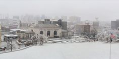 The city i love under a blanket of snow!