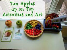 Natural Beach Living: Ten Apples up on Top for Kindergarten