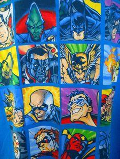 DC Comics Blue Tee Shirt Green Hornet Superman Flash Batman Aquaman More XL