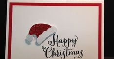 Rubber Stamping, Stamped Cards, Gifts and Craft items many with detailed instructions so you can make your own! Great place for ideas for Hostess Gifts, Make & Takes, Stamp Camps and Craft Fairs! I POST DAILY! Christmas Cards 2017, Simple Christmas Cards, Homemade Christmas Cards, Stampin Up Christmas, Xmas Cards, Homemade Cards, Christmas Crafts, Holiday Cards, Christmas Tree