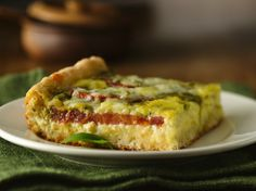Enjoy this delicious brunch bake made using Original Bisquick® mix and layered with cheese and tomatoes.