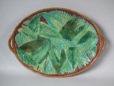 George Jones Majolica Fern Platter   ID#20755   Madelena