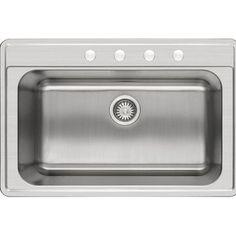 """Winpro 33"""" x 22"""" Single Basin Drop-In Kitchen Sink   Wayfair"""