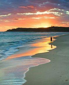 North Stradbroke Island off coast of Queensland, Australia - just across the bay from where we live. Beautiful Sunset, Beautiful Beaches, Beautiful World, Costa, Queensland Australia, Australia Travel, Western Australia, Tasmania, The Places Youll Go
