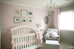 Elegant Soft Pink and Gray Nursery for a Baby Girl - the gallery wall over the crib is a super-sweet touch! Description from pinterest.com. I searched for this on bing.com/images