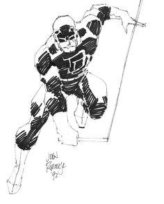 The Marvel Comics of the 1980s — 1992 - Daredevil by John Romita Jr