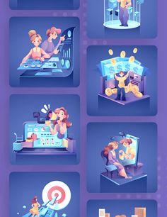 Digital Marketing Vector Illustrations - EPS, AI