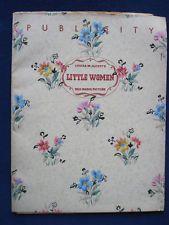 Original Publicity Book for LOUISA MAY ALCOTT / GEORGE CUKOR Film LITTLE WOMEN