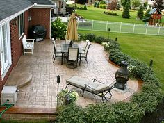 landscaping around patios - bing images read more at: space ... - Patio Border Ideas