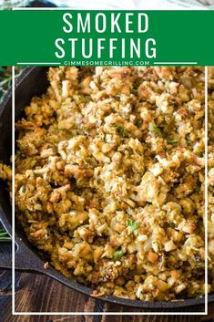 Delicious smoked stuffing is prepared on your Traeger electric pellet grill. This easy side dish recipe on your smoker is the perfect recipe for your holiday dinner! Traeger Recipes, Smoked Meat Recipes, Grilled Chicken Recipes, Grilling Recipes, Grilling Tips, Smoked Pork, Chicken Dips, Side Dishes Easy, Side Dish Recipes
