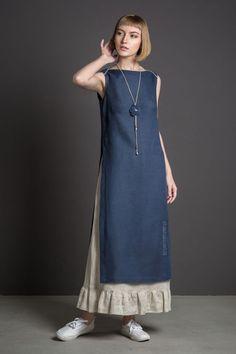 "Order Set linen ""Openwork"" in the Internet … - Fashion Ideas Boho Fashion Over 40, Fashion For Women Over 40, Look Fashion, Muslim Fashion, Hijab Fashion, Fashion Dresses, Linen Dresses, Casual Dresses, Dress Sewing Patterns"