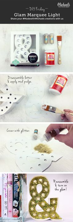 DIYFriday DIY Glam Marquee Light