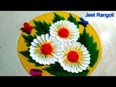 Friends, Welcome to Jeet Rangoli 🌺🌺 Simple rangoli design. This channel based on rangoli art for students. Here we provide different types of rangoli a. Very Easy Rangoli Designs, Rangoli Simple, Rangoli Designs Latest, Rangoli Designs Flower, Rangoli Border Designs, Colorful Rangoli Designs, Rangoli Ideas, Rangoli Designs Diwali, Diwali Rangoli