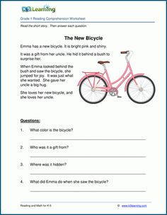 Free Printable First Grade Reading Comprehension Worksheets Grade 1 Reading Worksheets Grade 1 Reading Worksheets, First Grade Reading Comprehension, Free Kindergarten Worksheets, Reading Comprehension Worksheets, Worksheets For Kids, Number Worksheets, Phonics Worksheets, Picture Comprehension, Science Worksheets