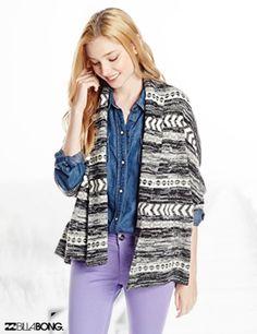 Billabong Juniors Fortune Teller Cardigan Sweater