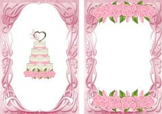 PINK ICING WEDDING CAKE WITH ROSES A5 INSERT on Craftsuprint - Add To Basket!