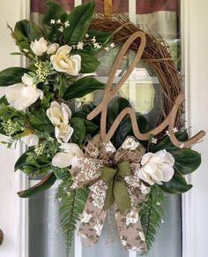 Magnolia Hi Door Wreath, Rustic Everyday Wreath for Front Door, Best Seller Wreath Spring Door Wreaths, Summer Wreath, Holiday Wreaths, Wreaths For Front Door, Wreath Fall, Halloween Wreaths, Winter Wreaths, Front Porch, Primitive Wreath