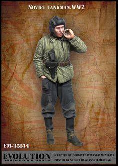 1/35 Scale resin Figure model kit Soviet Tankman WW2 UNPAINTED Figure Tankman #Unbranded
