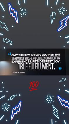 [Quote] [Anthony Robbins] [Wise Words] [True Fulfillment]