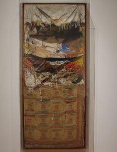 Bed, Robert Rauschenberg, 1955 Robert Rauschenberg, Pop Art, Collage, Fine Art, Painting, Mixed Media, Ideas, Shape, Tela