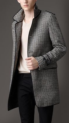Burberry Herringbone Great Coat.  I must have this!!